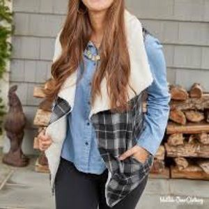 NWT— Matilda Jane cozy up reversible vest